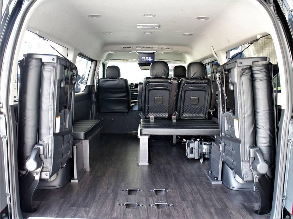 床張り施工もしております! | トヨタ ハイエース 2.7 GL ロング ミドルルーフ TSS付シートアレンジVer1