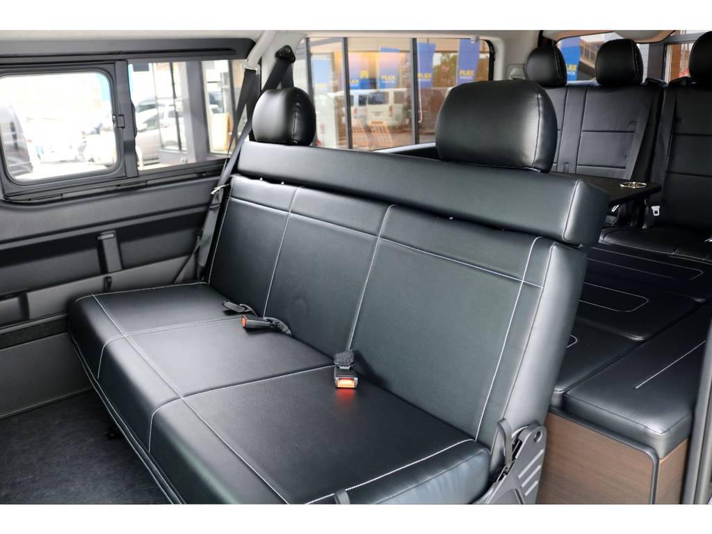 2列目は3人掛けベンチシートに換装!!   トヨタ ハイエース 2.7 GL ロング ミドルルーフ TSS付アレンジA