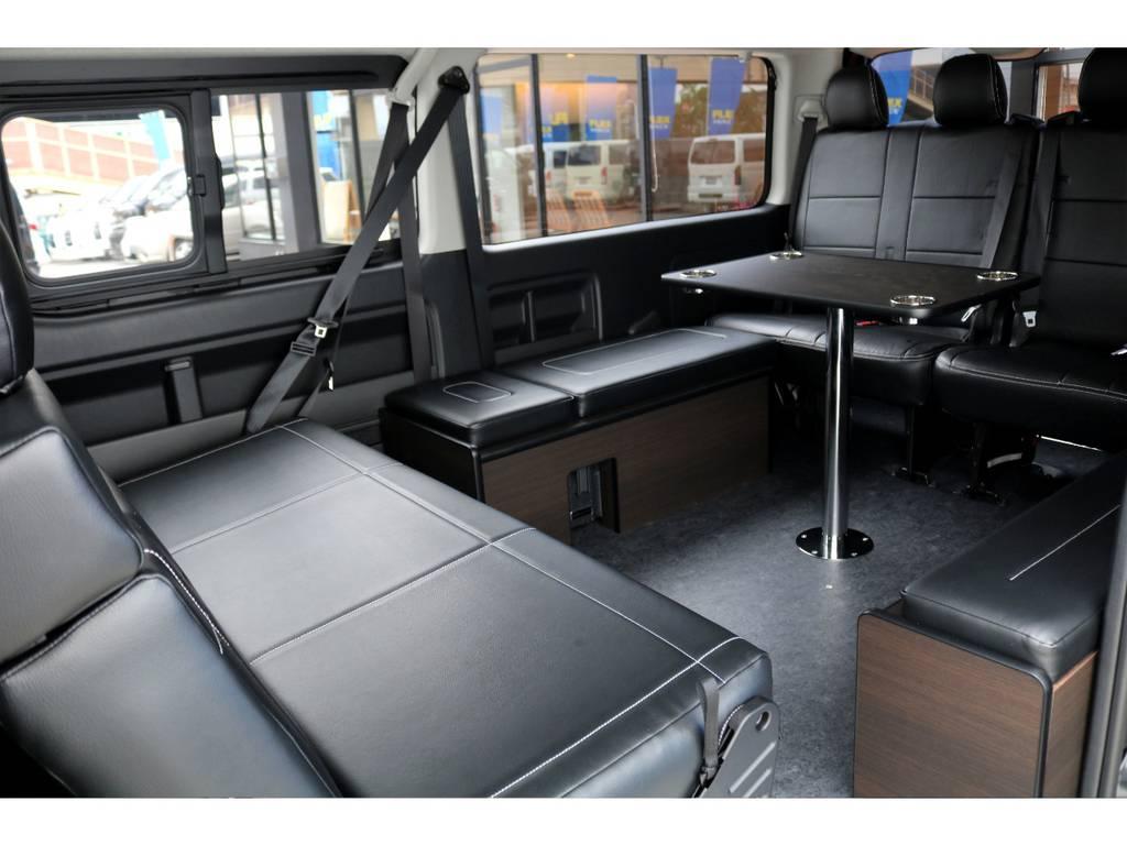 リビングスペースとしてもお使いいただけます!!   トヨタ ハイエース 2.7 GL ロング ミドルルーフ TSS付アレンジA
