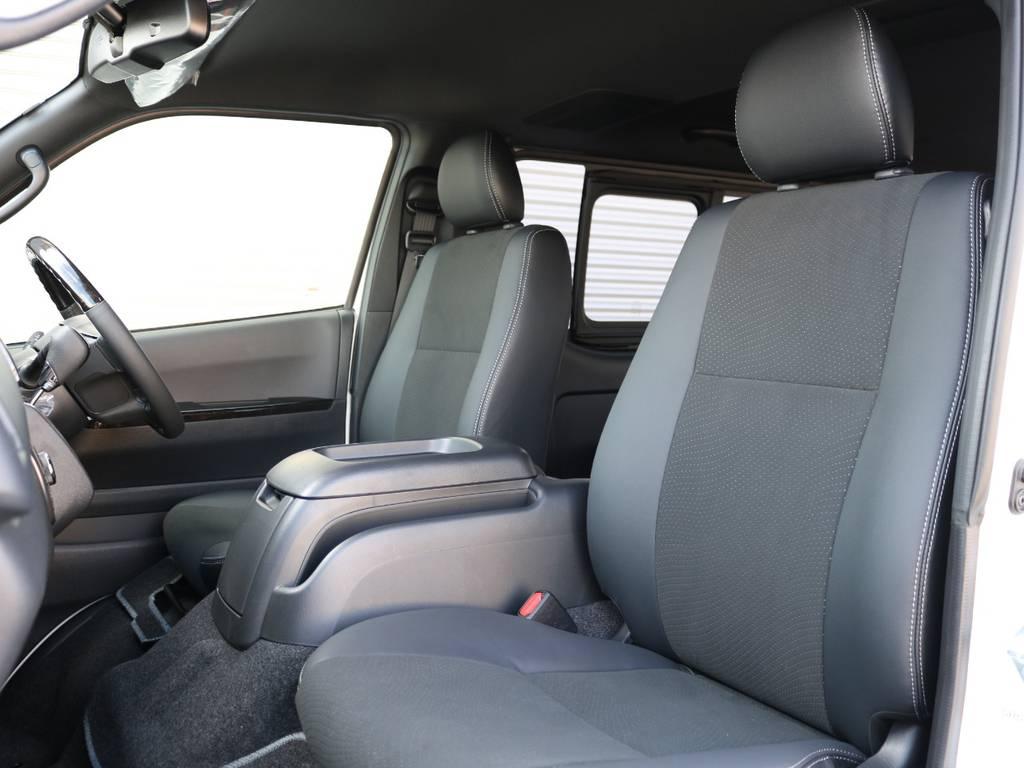 全席純正ハーフレザーシート♪ | トヨタ ハイエースバン 2.0 スーパーGL ダークプライムⅡ ロングボディ 内装Ver4D/P