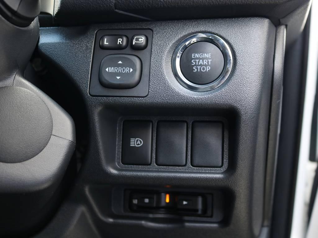 プッシュスタートシステム標準装備!ETCもビルトインにて完備♪ | トヨタ ハイエースバン 2.0 スーパーGL ダークプライムⅡ ロングボディ 内装Ver4D/P