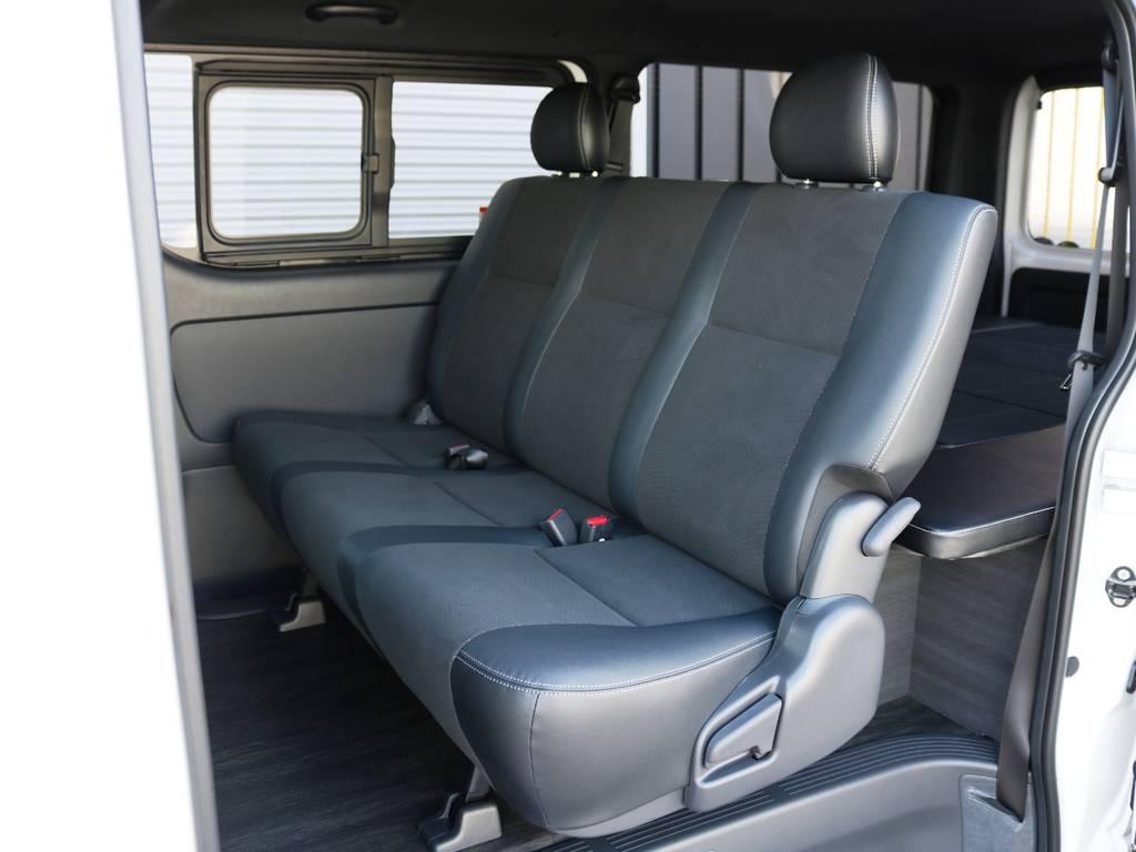 セカンドシートは3人掛けベンチシートタイプ♪ | トヨタ ハイエースバン 2.0 スーパーGL ダークプライムⅡ ロングボディ 内装Ver4D/P
