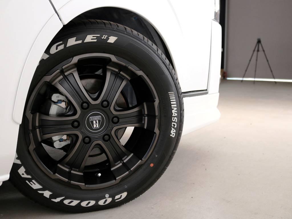 クリムソン バルベロディープス 17インチアルミホイール FLEXオリジナルカラー! | トヨタ ハイエースバン 2.0 スーパーGL ダークプライムⅡ ロングボディ 内装Ver4D/P