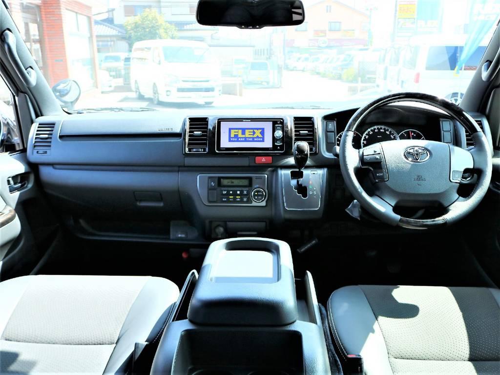 内外装ともにカスタム済みのお買い得な1台です!   トヨタ ハイエースバン 2.0 スーパーGL ダークプライムⅡ ロングボディ D/PⅡ小窓付き