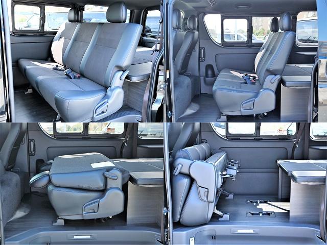 様々なレイアウトが可能な2列目シートですので、ベッドキットとともにお好みに合わせてお使い頂けます!   トヨタ ハイエースバン 2.0 スーパーGL ダークプライムⅡ ロングボディ D/PⅡ小窓付き