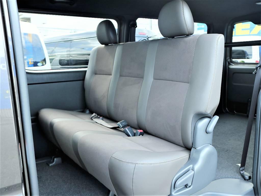 大人の方でもゆったりと座れるリアシートです! | トヨタ ハイエースバン 2.0 スーパーGL 50TH アニバーサリー リミテッド ロングボディ