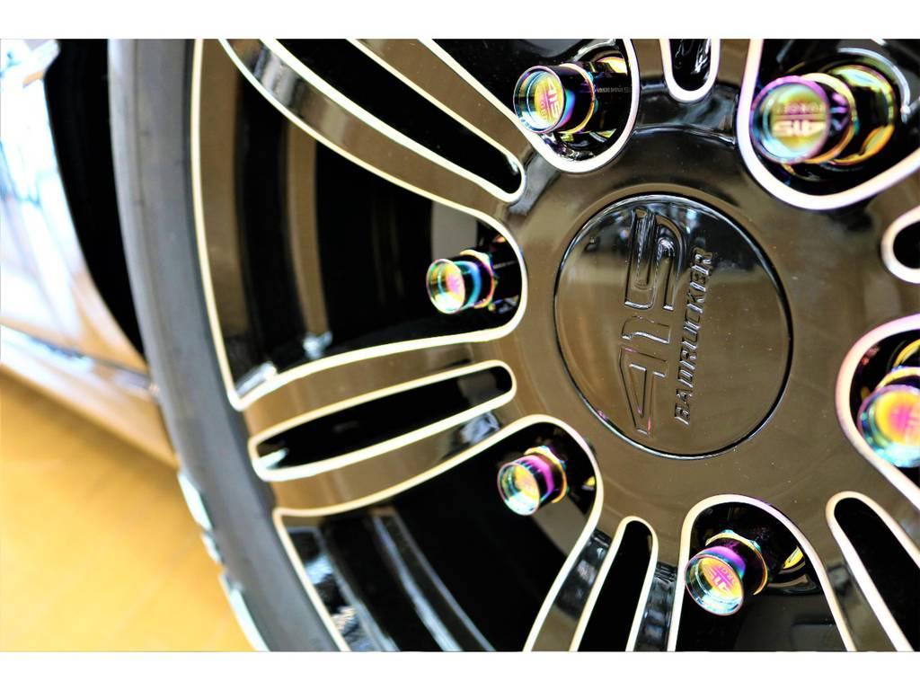 バットラッカー17インチアルミホイール! | トヨタ ハイエースバン 2.8 スーパーGL ダークプライムⅡ ロングボディ ディーゼルターボ 4WD D/PⅡ415コブラコンプリート