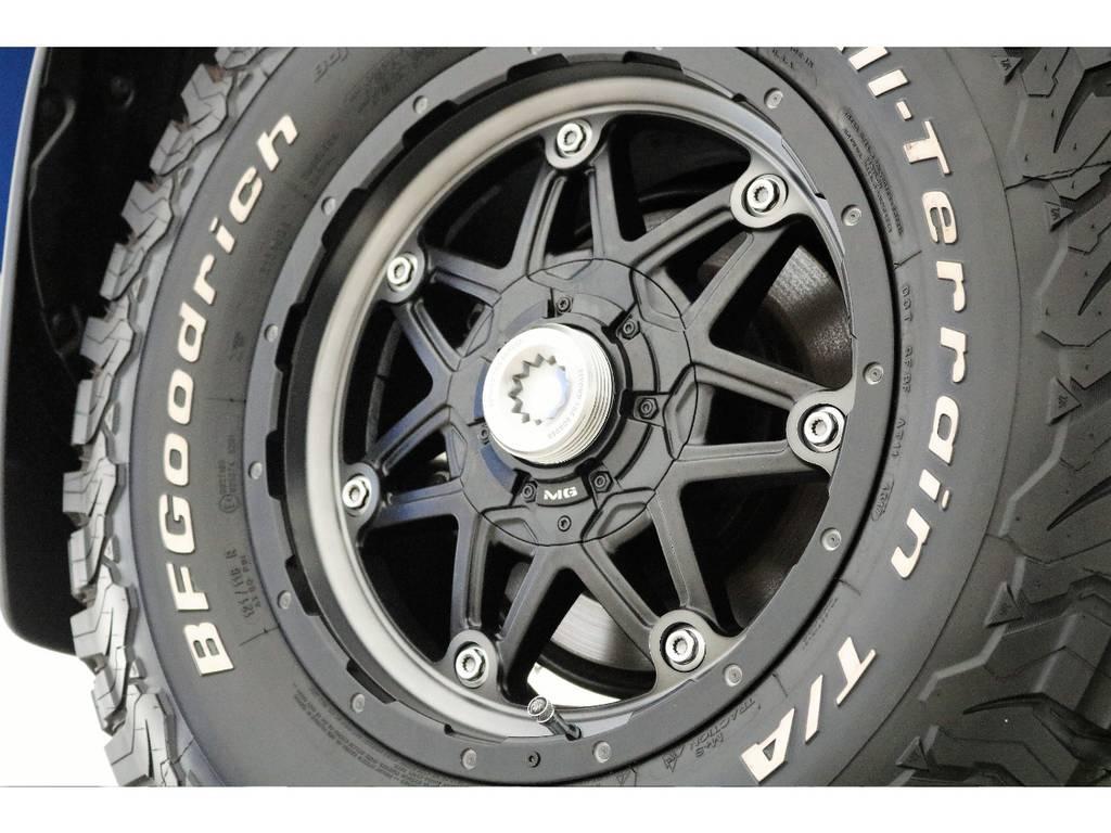 新品ライカン17インチホイール&新品BFグッドリッチATタイヤを装着致しました! | トヨタ ランドクルーザープラド 2.7 TX 4WD 7人 新車未登録車 9インチナビ