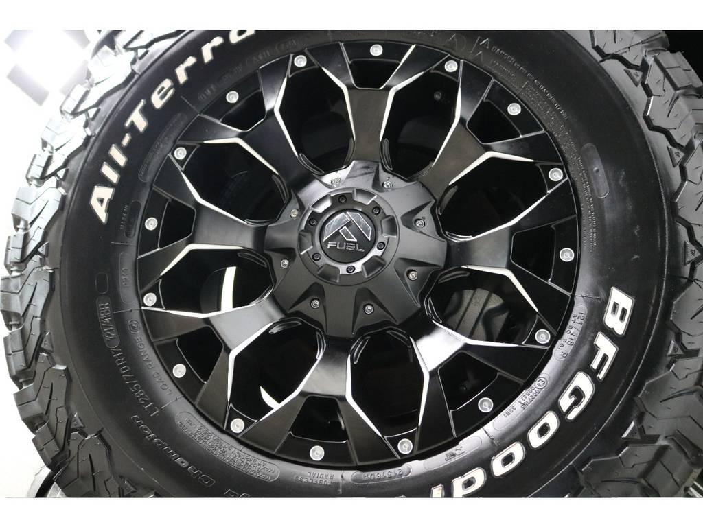 新品FUEL17インチホイール&新品BFグッドリッチATタイヤを装着致しました! | トヨタ ランドクルーザープラド 2.8 TX ディーゼルターボ 4WD 7人 新車未登録車 ディーゼル