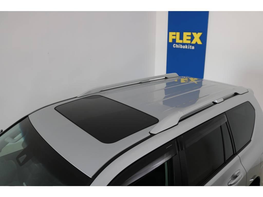 ディーラーオプションルーフレール付き! | トヨタ ランドクルーザープラド 2.8 TX ディーゼルターボ 4WD 7人 新車未登録車 ディーゼル