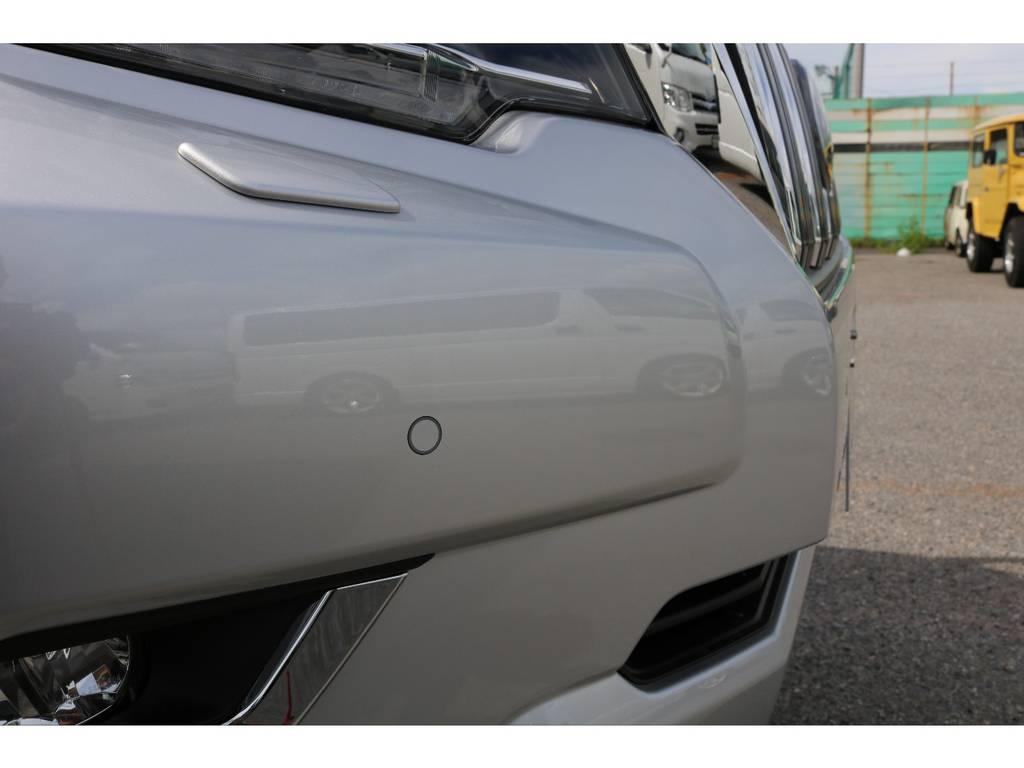 メーカーオプションクリアランスソナーも装着済み! | トヨタ ランドクルーザープラド 2.8 TX ディーゼルターボ 4WD 7人 新車未登録車 ディーゼル