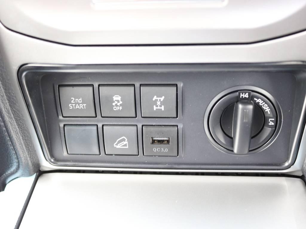 別注USBポート付き☆ | トヨタ ランドクルーザープラド 2.8 TX ディーゼルターボ 4WD 7人 試乗車 2インチUP