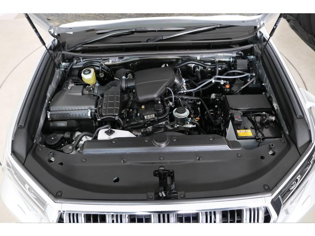 店舗敷地内に工場完備ですので車検から整備までお任せください。   トヨタ ランドクルーザープラド 2.7 TX 4WD 5人 新車未登録車 9インチナビ