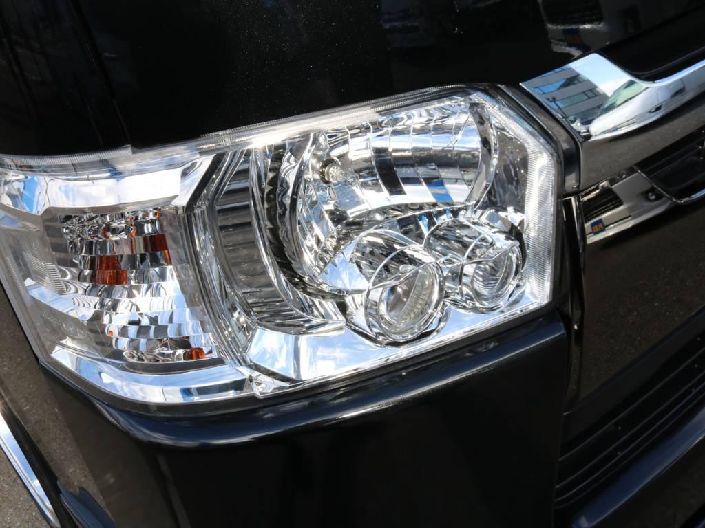 LEDヘッドランプ搭載です!! | トヨタ ハイエースバン 2.0 スーパーGL 50TH アニバーサリー リミテッド ロングボディ オリジナル内装Ver4