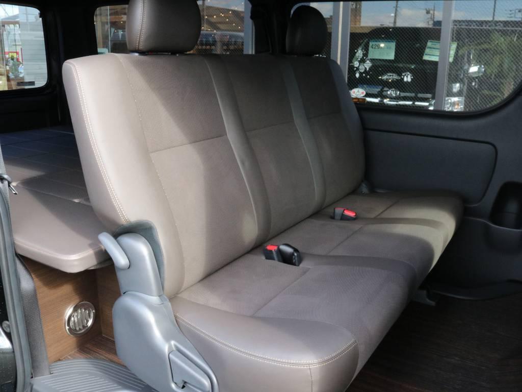 2列目の居住空間も広いですよ!! | トヨタ ハイエースバン 2.0 スーパーGL 50TH アニバーサリー リミテッド ロングボディ オリジナル内装Ver4