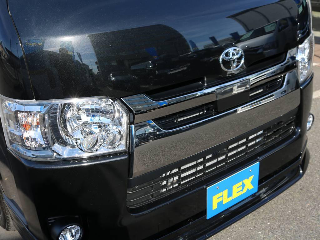 自動ブレーキ付き!! | トヨタ ハイエースバン 2.8 スーパーGL ダークプライムⅡ ロングボディ ディーゼルターボ 床張りナビパッケージ