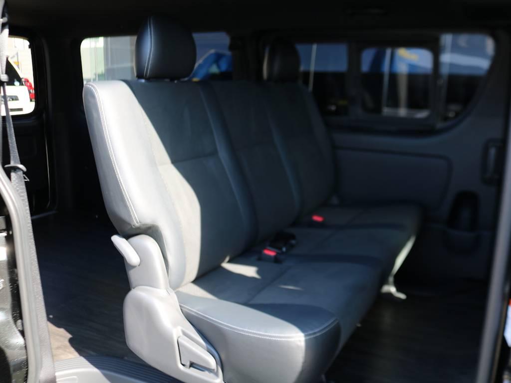 2列目も広々としています。 | トヨタ ハイエースバン 2.8 スーパーGL ダークプライムⅡ ロングボディ ディーゼルターボ 床張りナビパッケージ