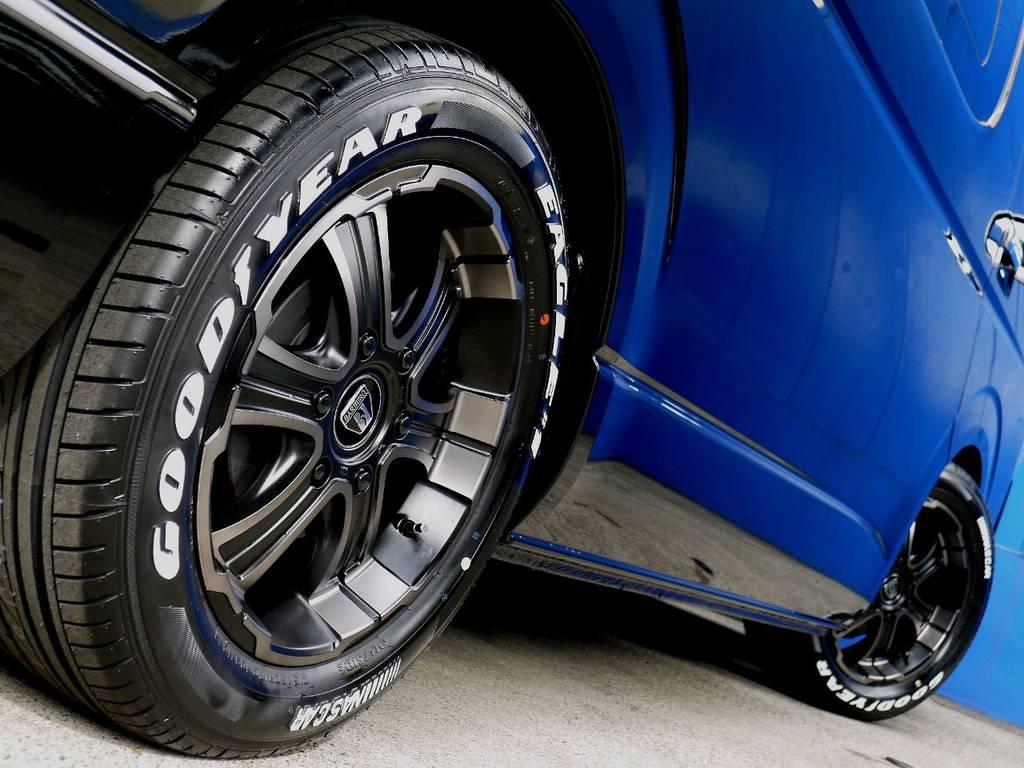 ボディーラインにベストマッチのホイール!! | トヨタ ハイエース 2.7 GL ロング ミドルルーフ R1トリプルナビパッケージ
