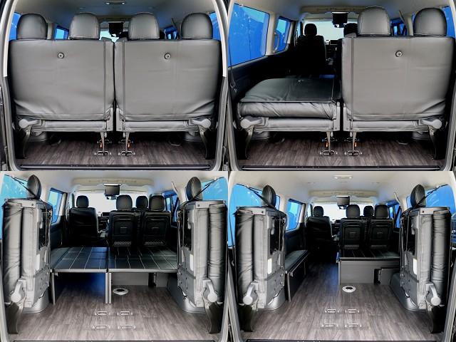 最後部座席は格納 跳ね上げできますよ!!荷物もいっぱい積めますよ!! | トヨタ ハイエース 2.7 GL ロング ミドルルーフ R1トリプルナビパッケージ