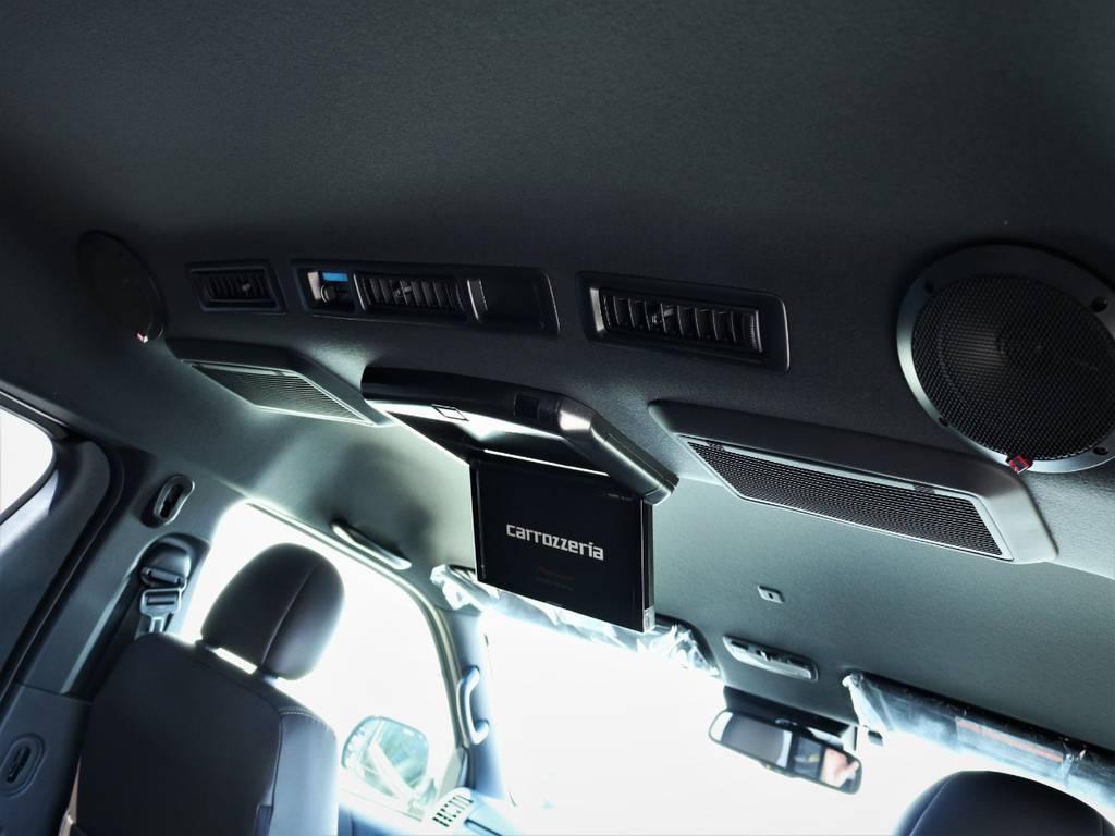 カロッツェリア製フリップダウンモニター! | トヨタ ハイエースバン 2.7 スーパーGL 50THアニバーサリー リミテッド ワイド ミドルルーフ ロングボディ4WD 内装VER4