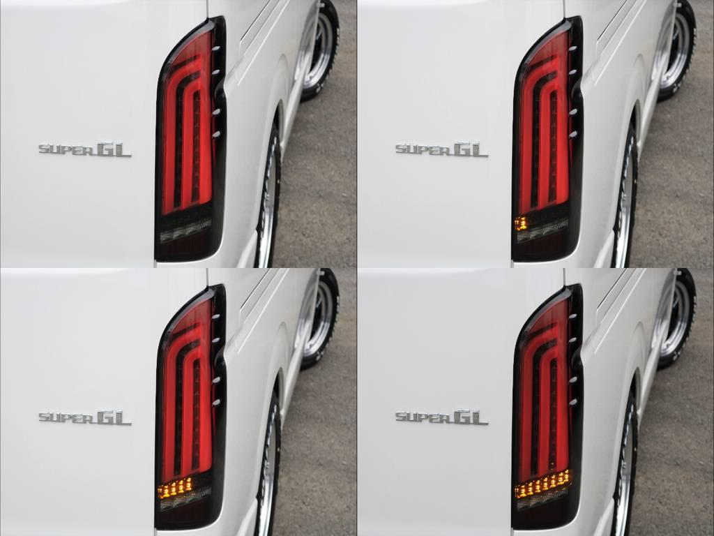 ヴァレンティLEDテール REVOシューティングタイプ!ウィンカー部分が流れます! | トヨタ ハイエースバン 2.8 スーパーGL ダークプライムⅡ ロングボディ ディーゼルターボ BAD FACEカスタム