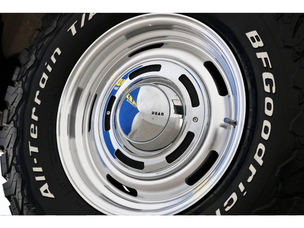 新品DEANクロスカントリー16インチホイール&新品BFグッドリッチATタイヤを装着致しました! | トヨタ ランドクルーザー80 4.5 VXリミテッド 4WD 丸目 60フェイス