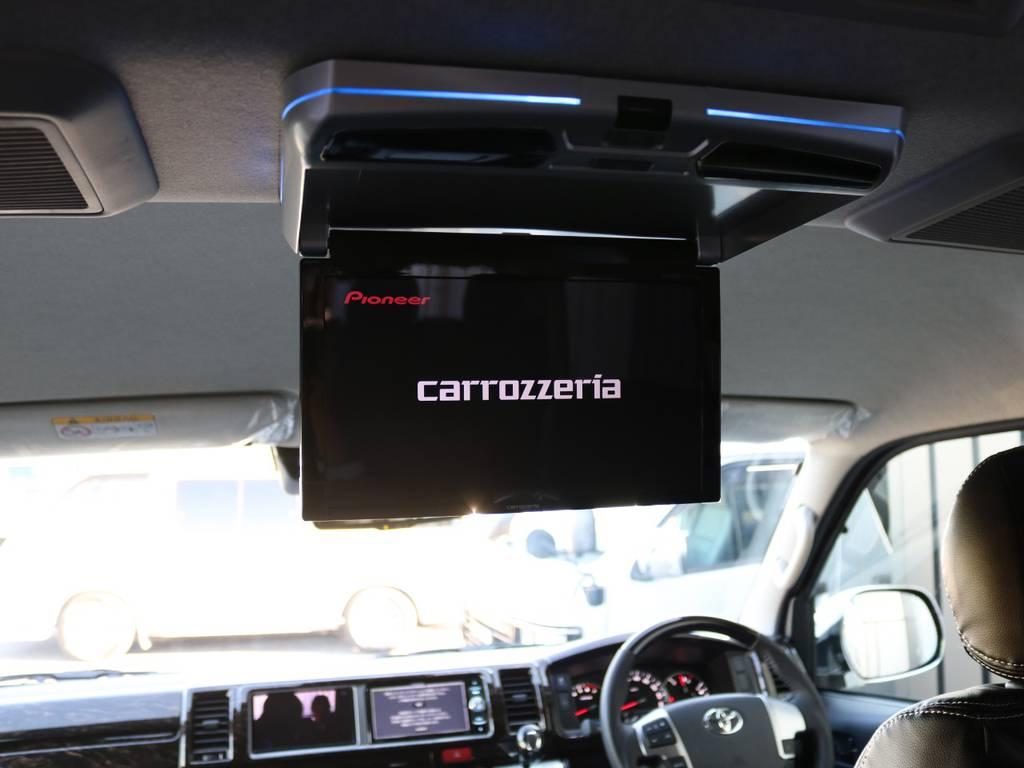 カロッツェリア 11.6型 フリップダウンモニター! | トヨタ ハイエース 2.7 GL ロング ミドルルーフ 内装アレンジVer2