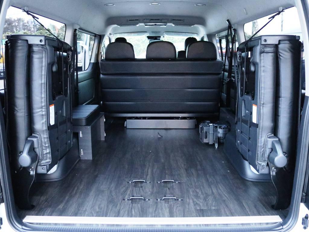 ベッド一式は取り外しが可能です♪ | トヨタ ハイエース 2.7 GL ロング ミドルルーフ 内装アレンジVer2