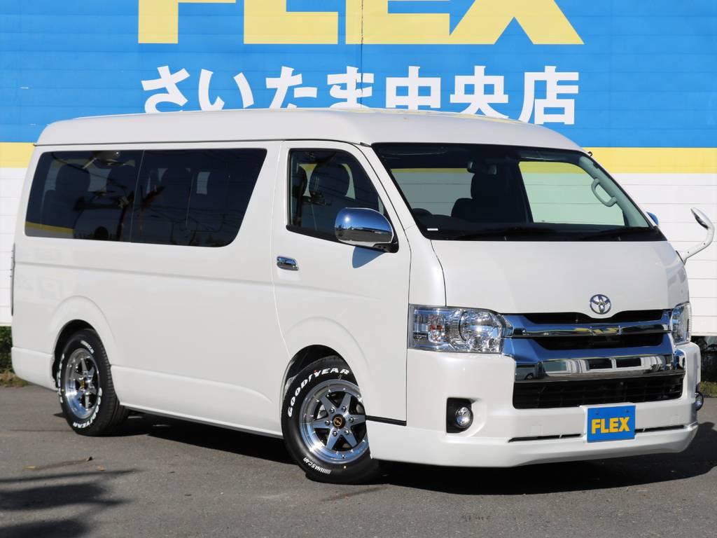 ハイエースワゴンGL TSS付き車両入庫しました!FLEX人気内装アレンジR1にトリプルモニター完備! | トヨタ ハイエース 2.7 GL ロング ミドルルーフ アレンジR1 トリプルモニター