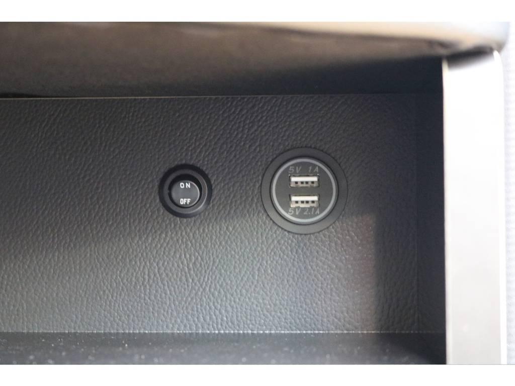 USBポートも装着しております♪ | トヨタ ハイエース 2.7 GL ロング ミドルルーフ 4WD オリジナル内装架装アレンジR1