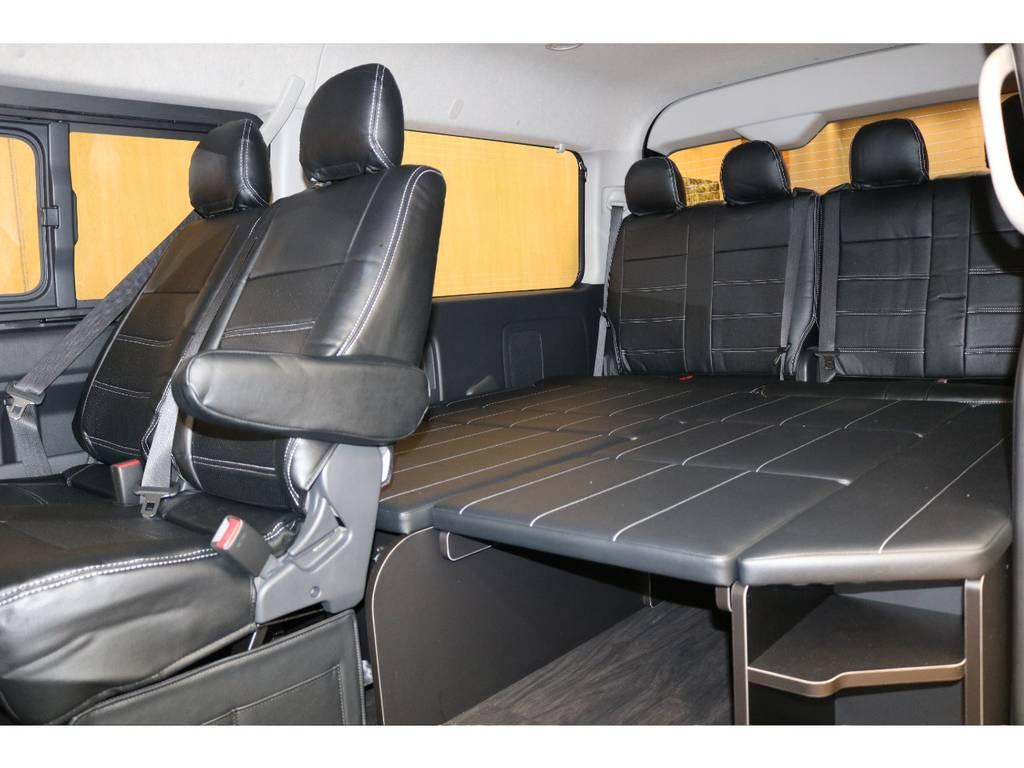 人気のシートアレンジ! | トヨタ ハイエース 2.7 GL ロング ミドルルーフ 4WD オリジナル内装架装アレンジR1