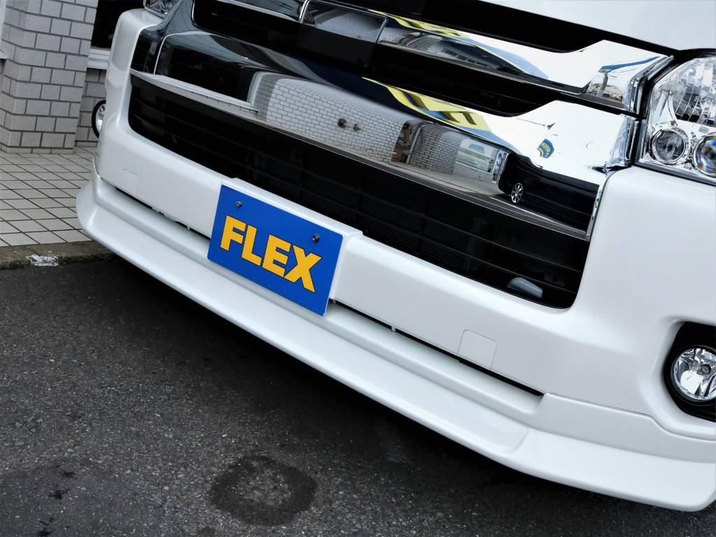 FLEXオリジナルデルフィーノラインフロントスポイラー!   トヨタ ハイエース 2.7 GL ロング ミドルルーフ 4WD アレンジR1