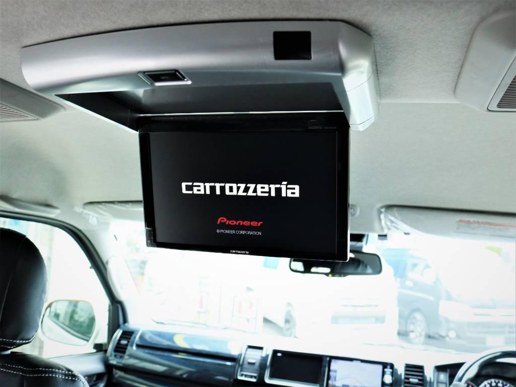 カロッツェリア製フリップダウンモニター! | トヨタ ハイエース 2.7 GL ロング ミドルルーフ 4WD アレンジR1