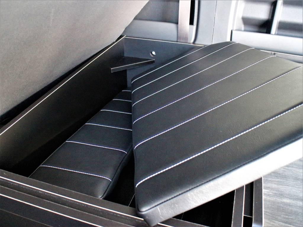 ベッドキット収納可能です! | トヨタ ハイエース 2.7 GL ロング ミドルルーフ 4WD アレンジR1内装架装車両