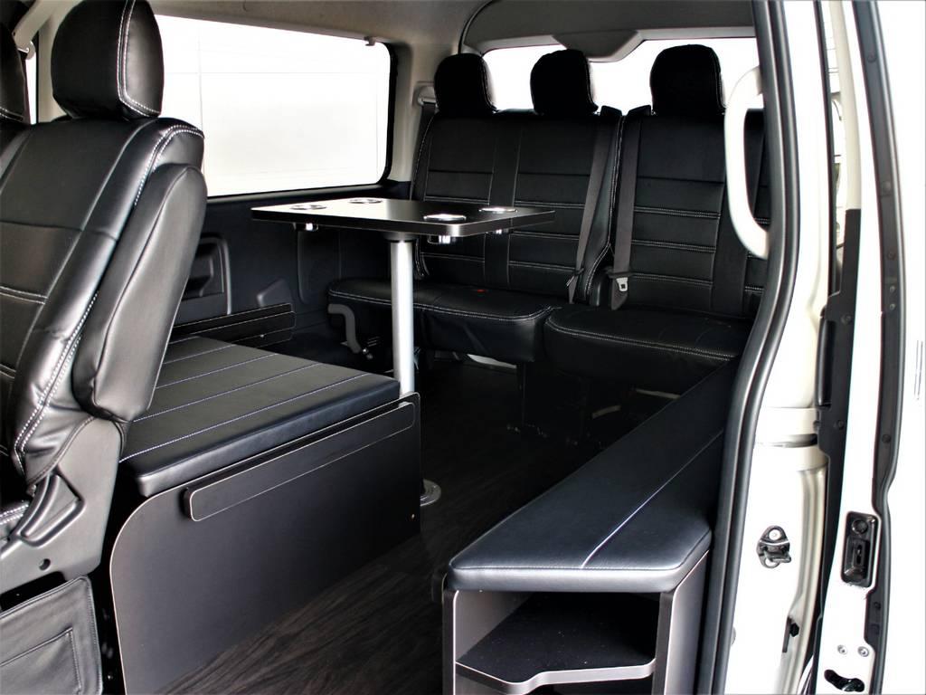 テーブルのみのご使用も可能です! | トヨタ ハイエース 2.7 GL ロング ミドルルーフ 4WD アレンジR1内装架装車両