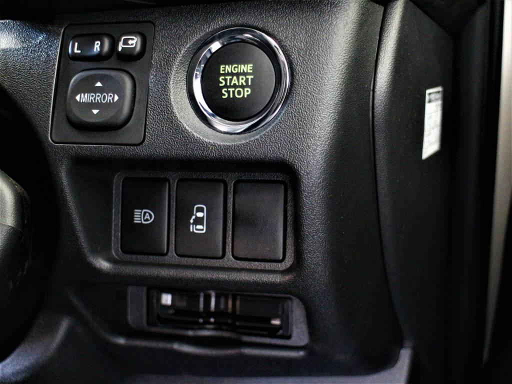 スマートキー&プッシュスタート! 左側パワースライドドア! 自動ハイビーム(オートマチックハイビーム)! ビルトインETC! | トヨタ ハイエース 2.7 GL ロング ミドルルーフ 4WD アレンジR1内装架装車両