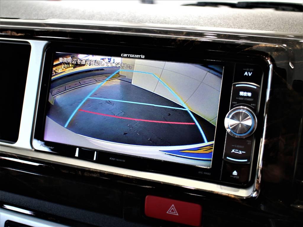 バックモニター連動加工済! | トヨタ ハイエース 2.7 GL ロング ミドルルーフ 4WD アレンジR1内装架装車両