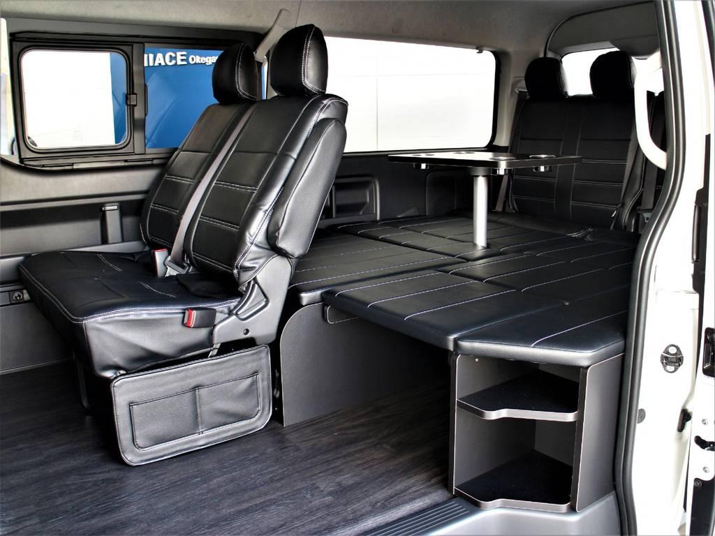 FLEXオリジナルアレンジR1内装架装車です! | トヨタ ハイエース 2.7 GL ロング ミドルルーフ 4WD アレンジR1内装架装車両