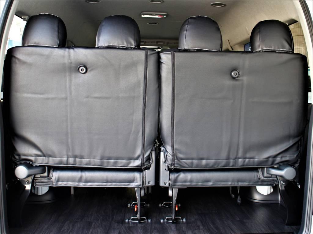 後席4人定員です! | トヨタ ハイエース 2.7 GL ロング ミドルルーフ 4WD アレンジR1内装架装車両