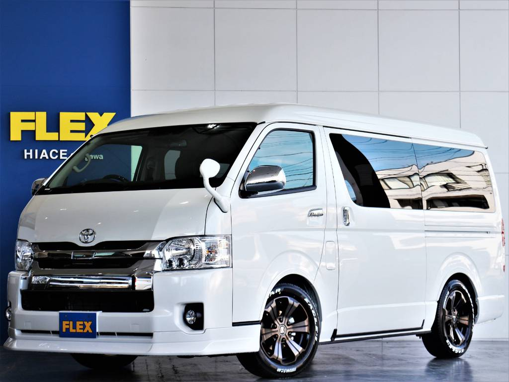 FLEXハイエースさいたま桶川店 お問い合わせはこちらまで 0487799122 | トヨタ ハイエース 2.7 GL ロング ミドルルーフ 4WD アレンジR1内装架装車両