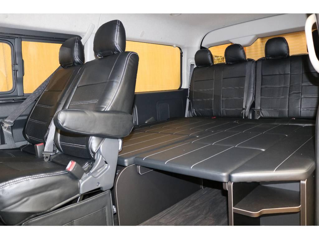 是非人気のシートアレンジをご確認ください! | トヨタ ハイエース 2.7 GL ロング ミドルルーフ 4WD オリジナル内装架装R1