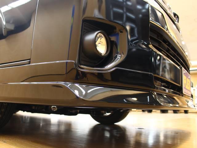 オリジナルフロントスポイラー! | トヨタ ハイエース 2.7 GL ロング ミドルルーフ 4WD オリジナル内装架装R1
