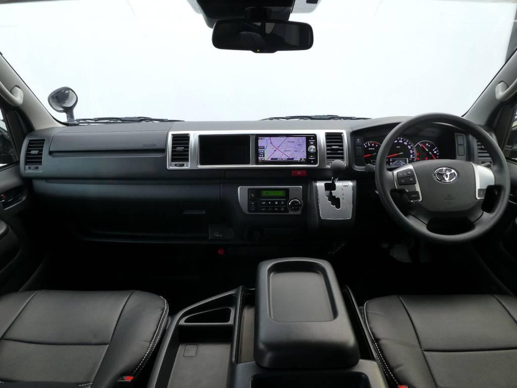 ワイドのキャビンは広々ですよ!! | トヨタ ハイエース 2.7 GL ロング ミドルルーフ 4WD 内装架装 アレンジAS