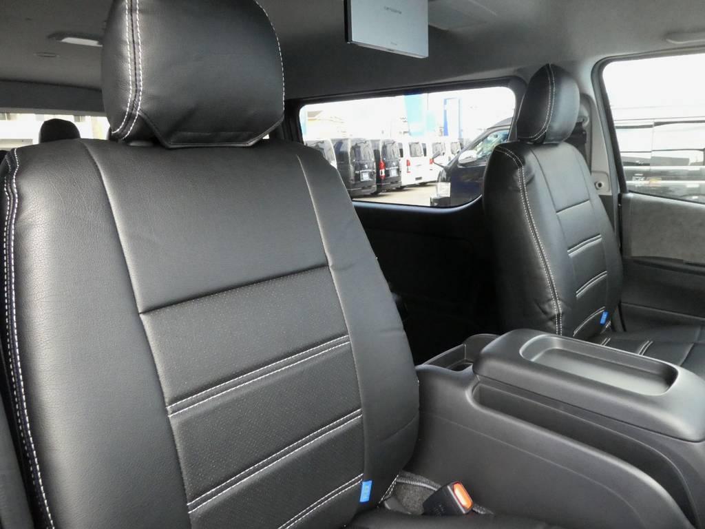 立体裁断の専用シートカバーは耐久性が違いますよ!! | トヨタ ハイエース 2.7 GL ロング ミドルルーフ 4WD 内装架装 アレンジAS