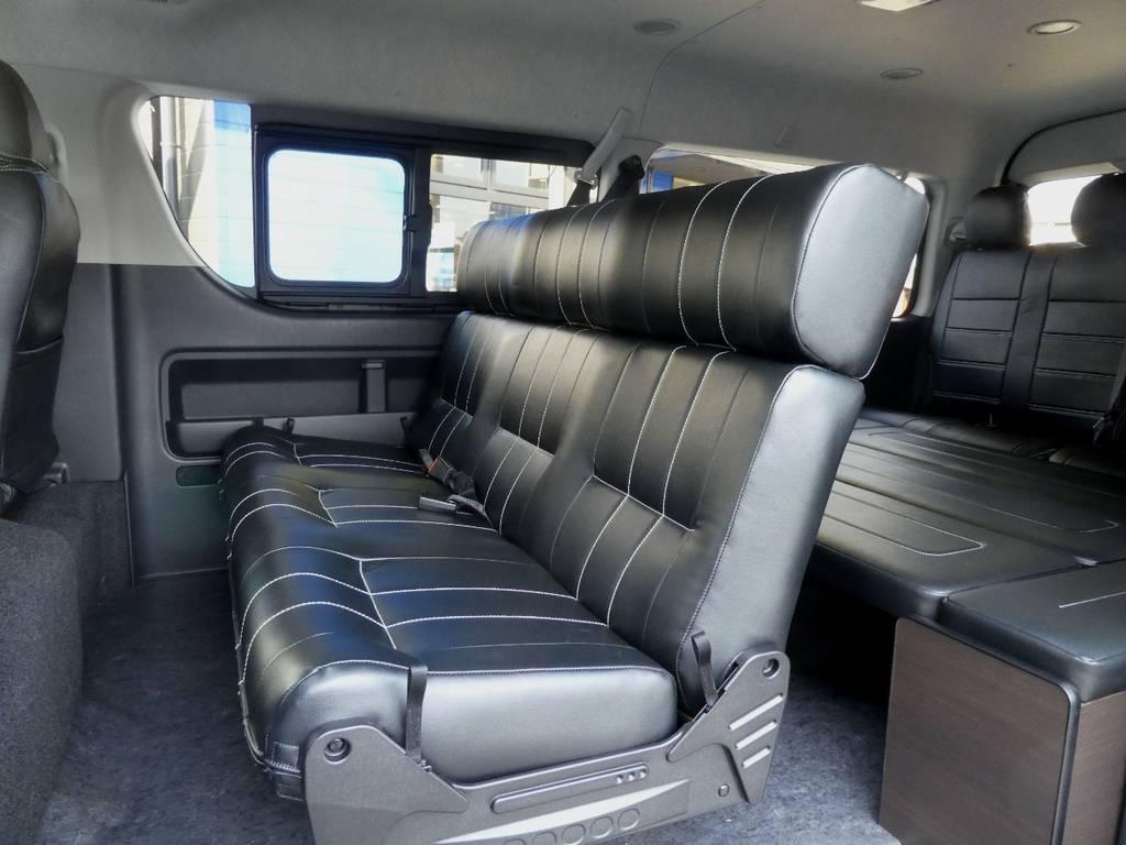 スライドやアレンジも可能となります! | トヨタ ハイエース 2.7 GL ロング ミドルルーフ 4WD 内装架装 アレンジAS