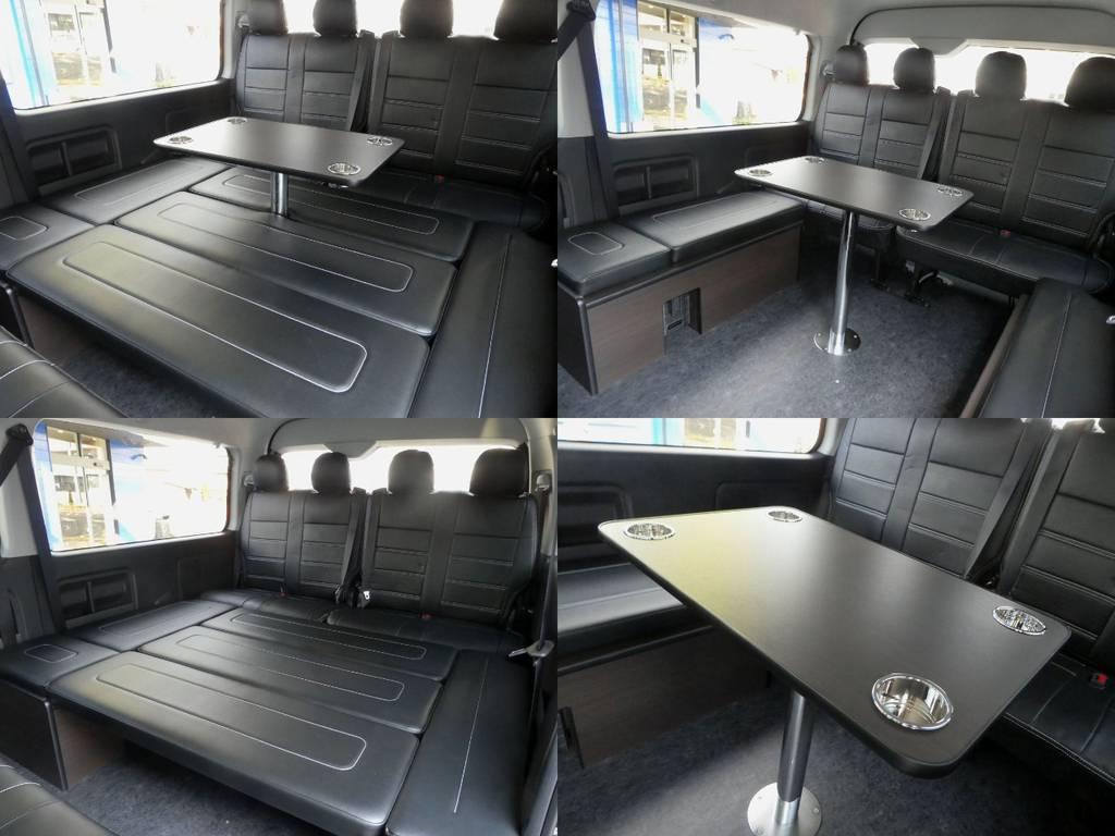 テーブル ベットは脱着可能です!! | トヨタ ハイエース 2.7 GL ロング ミドルルーフ 4WD 内装架装 アレンジAS