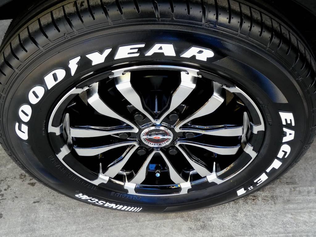 XF65 16インチアルミ ナスカーホワイトレタータイヤをセット!! | トヨタ ハイエース 2.7 GL ロング ミドルルーフ 4WD 内装架装 アレンジAS