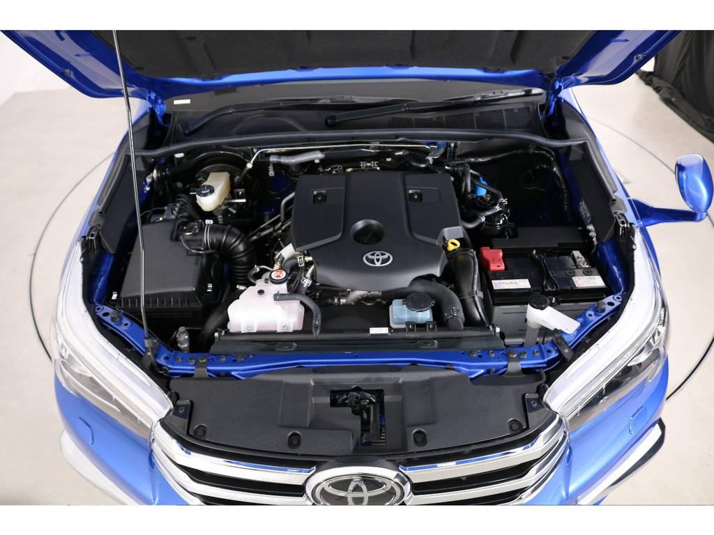 エンジンは2400ccのディーゼルターボで快適なドライビングを実現! | トヨタ ハイラックス 2.4 Z ディーゼルターボ 4WD Z 新車未登録車 11インチナビ