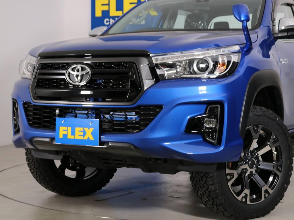 FLEXでしかできないROCCOフェイス! | トヨタ ハイラックス 2.4 Z ディーゼルターボ 4WD Z 新車未登録車 11インチナビ
