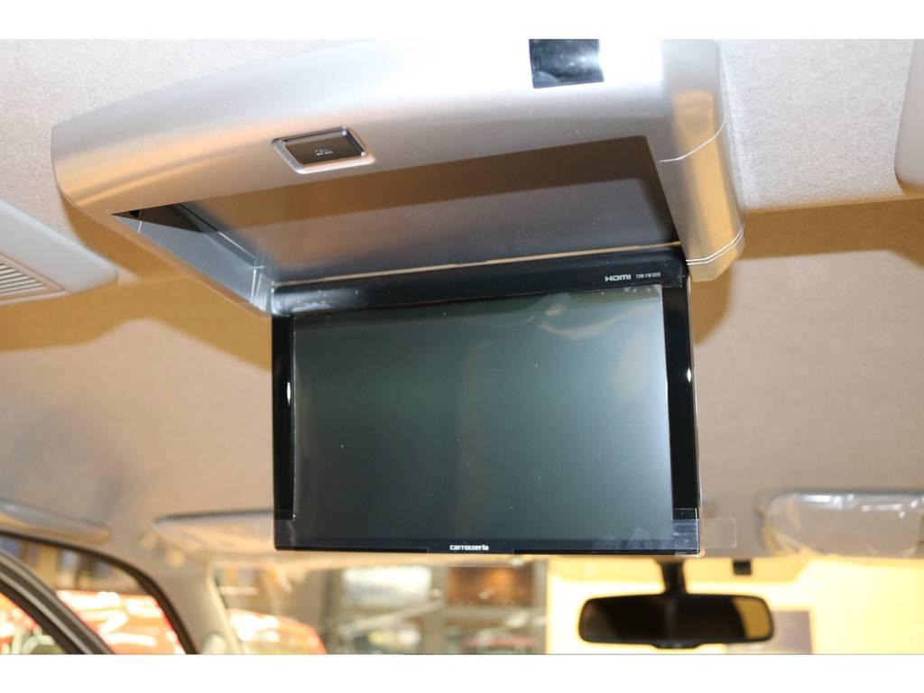 フリップダウンモニターもカロッツェリアフリップダウンモニター! | トヨタ ハイエース 2.7 GL ロング ミドルルーフ 4WD フレックスオリジナル内装架装Ver1
